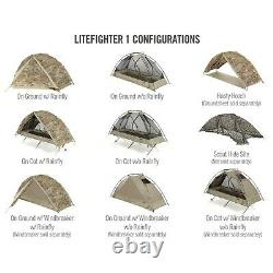 LiteFighter 1 Individual Shelter Army OCP Camo Tactical Military Solo Tent Camp