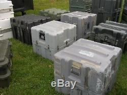 Lot (17) Seventeen Military Surplus Storage Containers Cases Tool Job Box Army