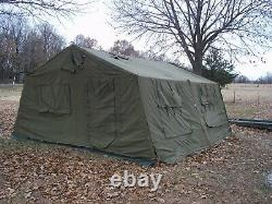MILITARY 16x16 FRAME TENT SURPLUS REGULAR CANVAS. NO FRAMES INCLUDED. US ARMY