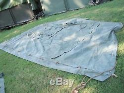 MILITARY 16x16 FRAME TENT SURPLUS US ARMY. NO FRAMES INCLUDED CAMPING HUNTING