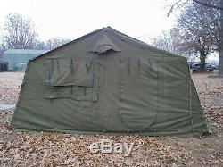 MILITARY 16x16 FRAME TENT SURPLUS US ARMY. NO FRAMES INCLUDED. CANVAS ONLY