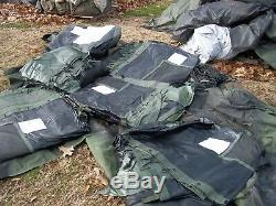MILITARY 20 x 32 TEMPER TENT CAMPING HUNTING ARMY 4 STOVE JACKS FLOOR US SURPLUS