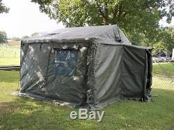 MILITARY SURPLUS 11x11 COMMAND POST TENT +FLOOR+ 2 TABLES+LINER+4 BOARDS. ARMY