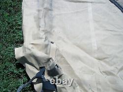 MILITARY SURPLUS 11x11 COMMAND POST TENT SKIN- ROOF - TAN GOOD US ARMY
