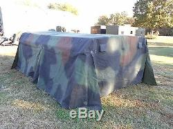 MILITARY SURPLUS CAMO TRUCK COVER+FRAME 8 x12.5 x 4 LMTV M1078 TENT 2.5 TON ARMY