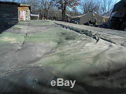 MILITARY SURPLUS CAMO TRUCK COVER + FRAME 8x14.5x4 MTV M1083 TENT 5 TON ARMY