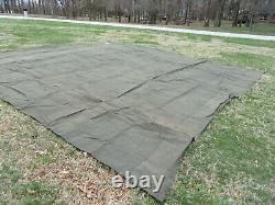 MILITARY SURPLUS CANVAS TARP OLD SCHOOL HEAVY TENT TRAILER 20 x 20 FOOT ARMY