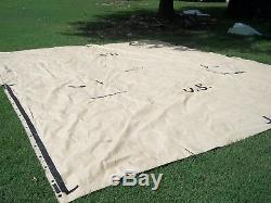 MILITARY SURPLUS TEMPER TENT TARP FLY CAMPING CANOPY 16x19 ARMY TAN