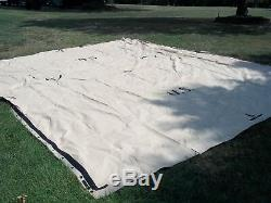 MILITARY SURPLUS TEMPER TENT TARP FLY HUNTING CAMPING CANOPY 16 x 19 ARMY TAN