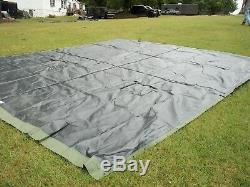 MILITARY SURPLUS TEMPER TENT TARP RAIN FLY HUNTING CAMPING CANOPY 16 x 19 ARMY