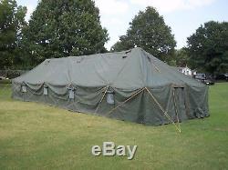 Military Surplus Vinyl Canvas Gp Large Tent 18x52 Ft Camping