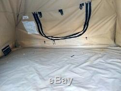 MILITARY TENT 5-SOLDIER ARMY SURPLUS ALL-WEATHER CAMPING 11x11 MADE IN USA