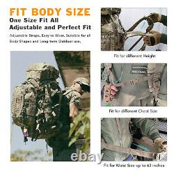 MT Military Army Large Rucksack with Detacheable ILBE Backpack Multicam Camo