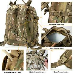 MT Military Army MOLLE 2 Tactical Medium Rucksack Rifleman 3 Day Assault Pack