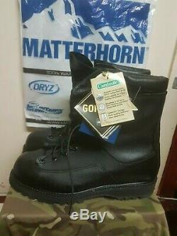 Matterhorn US Army Military Goretex Leather Boots US Size 10 W UK 9