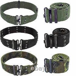 Mens Army Military Combat Pistol SWAT Utility Surplus Belt Black Green Camo New