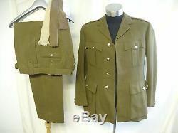 Mens Military Suit Moss Bros, British Army no. 2 dress, khaki, chest 40, 7643