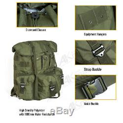 Military ALICE Pack Army Large Rucksack Backpack with Frame & Straps Olive Drab
