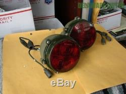 Military Army Jeep Truck Gamma-Goat Red Tail/Brake Lights (Rare New Old Stock)