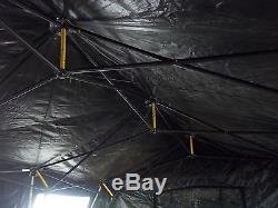 Military Base X Tent 203 Army Surplus Canvas 210 Sq-ft No Liner Yes Floor
