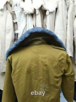Military Jacket Russian Army Tank man overcoat Fur Winter Soviet Coat Tankman