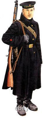 Military Jacket Russian Sailor's Overcoat Winter Soviet Coat Army USSR Shinel XL