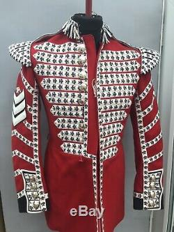 Military Red Scarlet Guards Jacket Tunic -Grenadier Guards British 38 Drummer