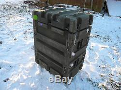 Military Shock Mount Rail 6 Rackmount Unit Storage Case 37-27-17 Container Army