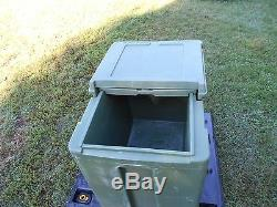 Military Surplus Cambro Ice Chest Box Cooler Kitchen Trailer Army Camping Green