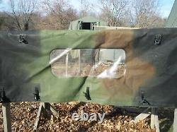 Military Surplus Cargo Cover Soft Camo 4 Man Truck M998 Hmmwv Army. Damaged