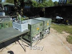 Military Surplus Field Range Stove Kitchen 4 Mbu Burners 2 Sinks Power Unit Army