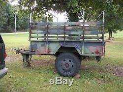 Military Surplus M105 Cargo Trailer Deer Camp Hunting Army Truck. No Title