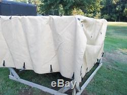 Military Surplus M1101 1102 Cargo Trailer Cover 12470989-3 Truck -tan- Us Army