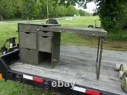 Military Surplus Portable Wood Field Desk- Kids Desk- No Stool-damaged -army