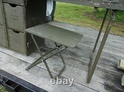 Military Surplus Portable Wood Field Desk- Kids Desk+ Seat Stool-damaged -army