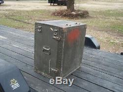 Military Surplus Portable Wood Field Desk + Stool Seat. Or Kids Desk. Us Army