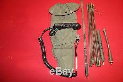 Military Surplus Radio Antenna Kit Prc 25 77 Field Phone Telephone Handset Army
