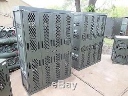 Military Surplus Secure Site Weapons Rifle Pistol Rack Cabinet Safe Gun Army