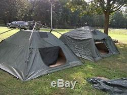 Military Surplus Soldier Crew Tent 10 X10 Camping- Fair-poor Condition -army