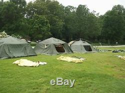 Military Surplus Soldier Crew Tent Army 5 Man Hunting Camping 10x10 Camping Us