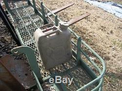 Military Surplus Tank Turret Water Gear Storage Rack Army- No Fuel Can Included