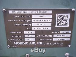 Military Surplus Tent Heater Ac Nordic Air Ecu 60,000 Btu 3 Phase 208v Army