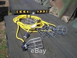Military Surplus Tent Lighting Kit 110v Army. 6. Standard Bulb String Cord Us