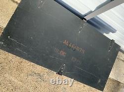Military Surplus Wood Foot Locker Trunk Basic Gear Army Navy Marines Industrial