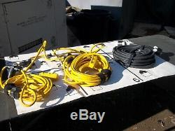 Military Surplus -feed Cable Set- Tent Generator Power Distribution Box Us Army