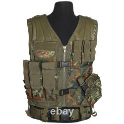 Military USmc Complete Combat Vest Kit + Mag Pouches Army Carrier Flecktarn Camo