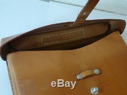 NEW Unused Swiss Army Military Leather Shoulder Bag Officier Switzerland RAR