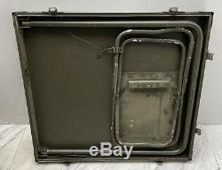 NOS US Military Army Field Office Desk USGI Storage Table Drawers Seat Lock Key