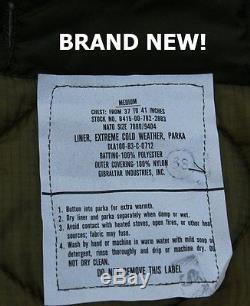 New Medium Us Military Fishtail Parka Jacket Army M65 Extreme Cold Genuine Nos
