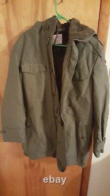 New Militaria Germany Military Surplus Army Parka Small/Medium 1989 Winter Coat